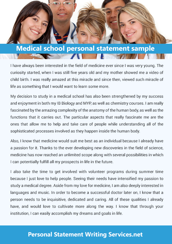 Medical personal statement services